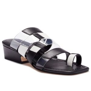 Donald J. Pliner Doris Black Leather Sandals